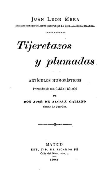 Portada de Tijeretazos y plumadas donde aparecen nuevamente los cuentos del Dr. Moscorrofio