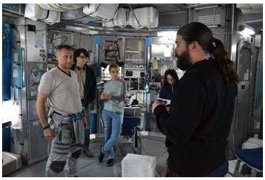 Sebastián Cordero en el set de filmación