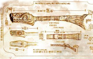 Armas de diseño Azteca