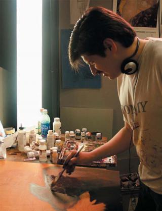 Eduardo Villacis en su taller