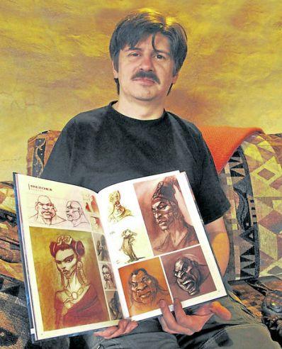 Eduardo Villacís.Artista multifacético que ha explorado la ilustración, pintura, animación y cómics. Foto: María José Torres/El Comercio