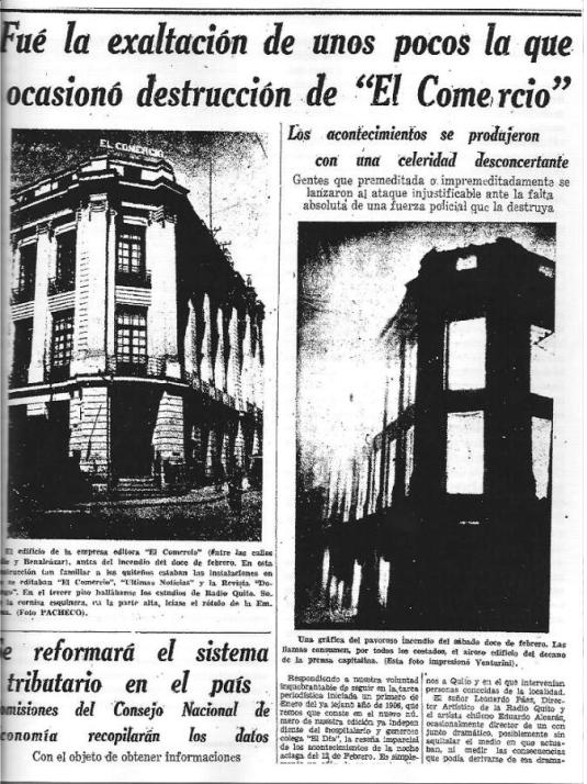 Noticia de El Comercio de 1949