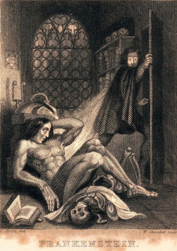 Gráfico de Frankenstein de Mary Shelley. Fuente: Open Culture