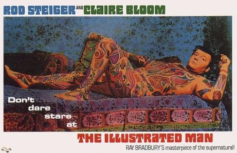 """Poster del film """"The Illustrated man"""" (1969) de Jack Smight, basado en el libro del mismo nombre de Ray Bradbury."""