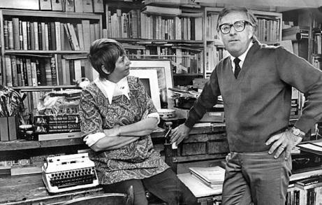 Ray Bradbury y su esposa Marguerite McClure (1970).