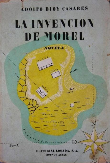 Foto+1.+La+invención+de+Morel+(Losada,+noviembre+14+de+1940),+sobrecubierta+de+Norah+Borges
