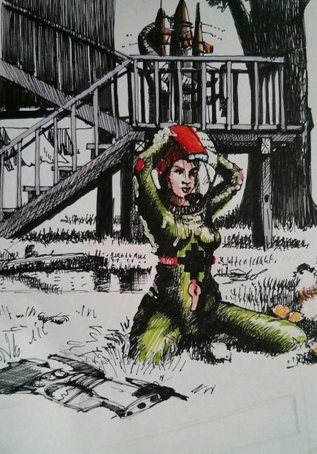 Dibujo de Fernando Naranjo Espinoza