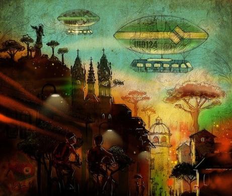 Quito 2030, ilustración para revista Quito; Kiko Rodríguez (http://www.kikoplastic.com/home.html=