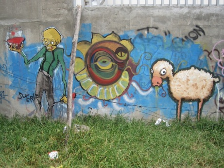 Graffiti callejero en Quito (publicado en http://thegonzothinktank.wordpress.com)