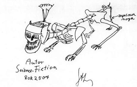 Un dibujo de Stanislaw Lem