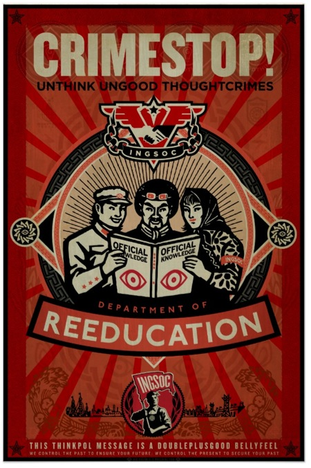 Poster alusivo al Miniver. Diseño de Libertymaniacs: http://www.zazzle.com/impresion_1984_de_ingsoc_thoughtcrime_poster-228928370248556557?lang=es