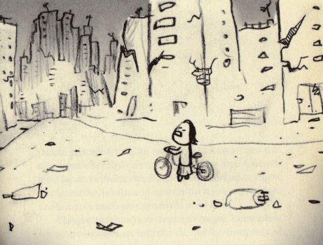 """Gráfico de la novela """"Casi mágica"""" de Yvonne Zúñiga; por Ayar Blasco."""