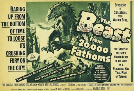 "Cartel del film ""The Beast from 20,000 Fathoms"" (1953) de Eugéne Louire."