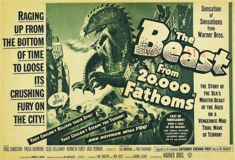 """Cartel del film """"The Beast from 20,000 Fathoms"""" (1953) de Eugéne Louire."""
