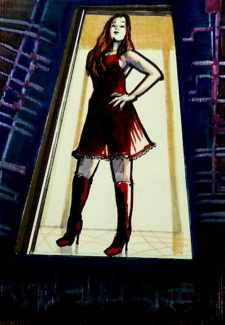 """""""Botones rojos"""", ilustración de Fernando Naranjo Espinoza."""