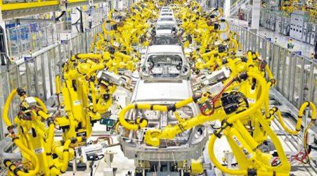 En la planta de producción de Hyundai, en la República de Eslovaquia, ya se prescindió del ser humano. Foto: Tomada de: http://www.hhiir.com