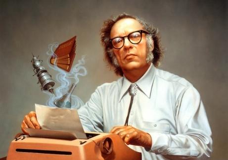 """""""Opus 2000: Isaac Asimov"""" por Rowena Morrill."""