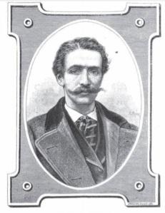 Retrato de Federico de la Vega, ejecutado por el artista francés Henri Meyer. Como se recordará, Meyer ilustró la edición príncipe de Un capitán de quince años.