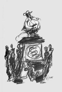 Una de las ilustraciones para el libro del artista Oswaldo Viteri.