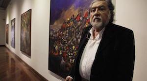 """El artista plástico e ilustradore del libro """"Sancho Panza en América"""" de Alfonso Barrera Valverde."""
