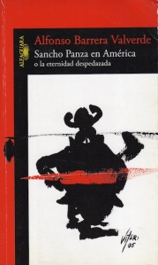 """Tapa del libro """"Sancho Panza en América"""" de Alfonso Barrera Valverde."""