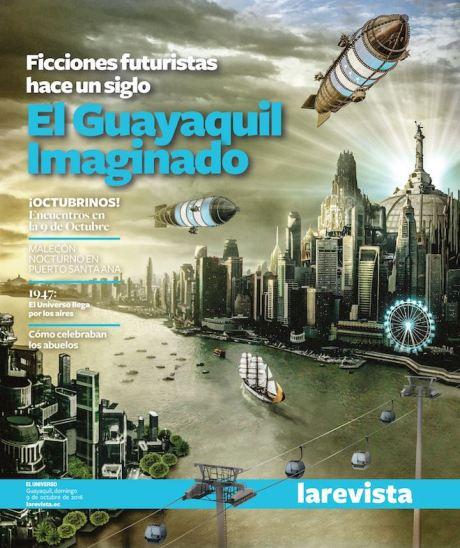 Portada diseñada por Gabriel Fandiño para la edición de La Revista del diario El Universo.