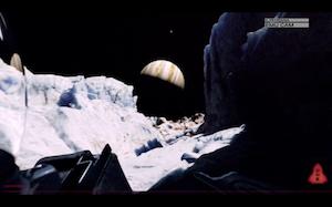 Algo acecha en el hielo. Como vemos, el lugar de aterrizaje está cerca del ecuador y en el hemisferio sur de la luna.