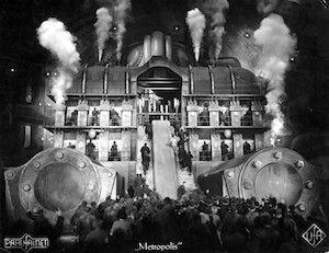 "La máquina devoradora de ""Metrópolis"" (fotograma)."
