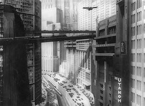 La arquitectura de Metrópolis (fotograma del film).