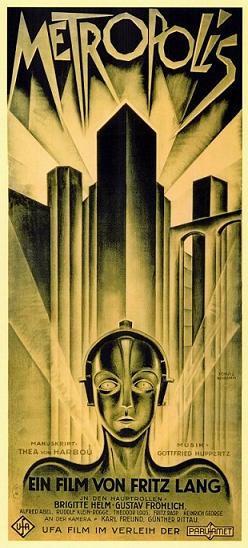 """Poster del film """"Metrópolis"""" (1927) de Fritz Lang."""